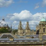 The beautiful Oxford skyline taken from the roof of Teddy Hall