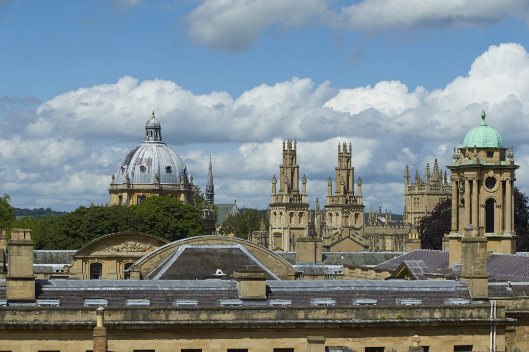 Oxford city skyline taken from the Kelly building roof