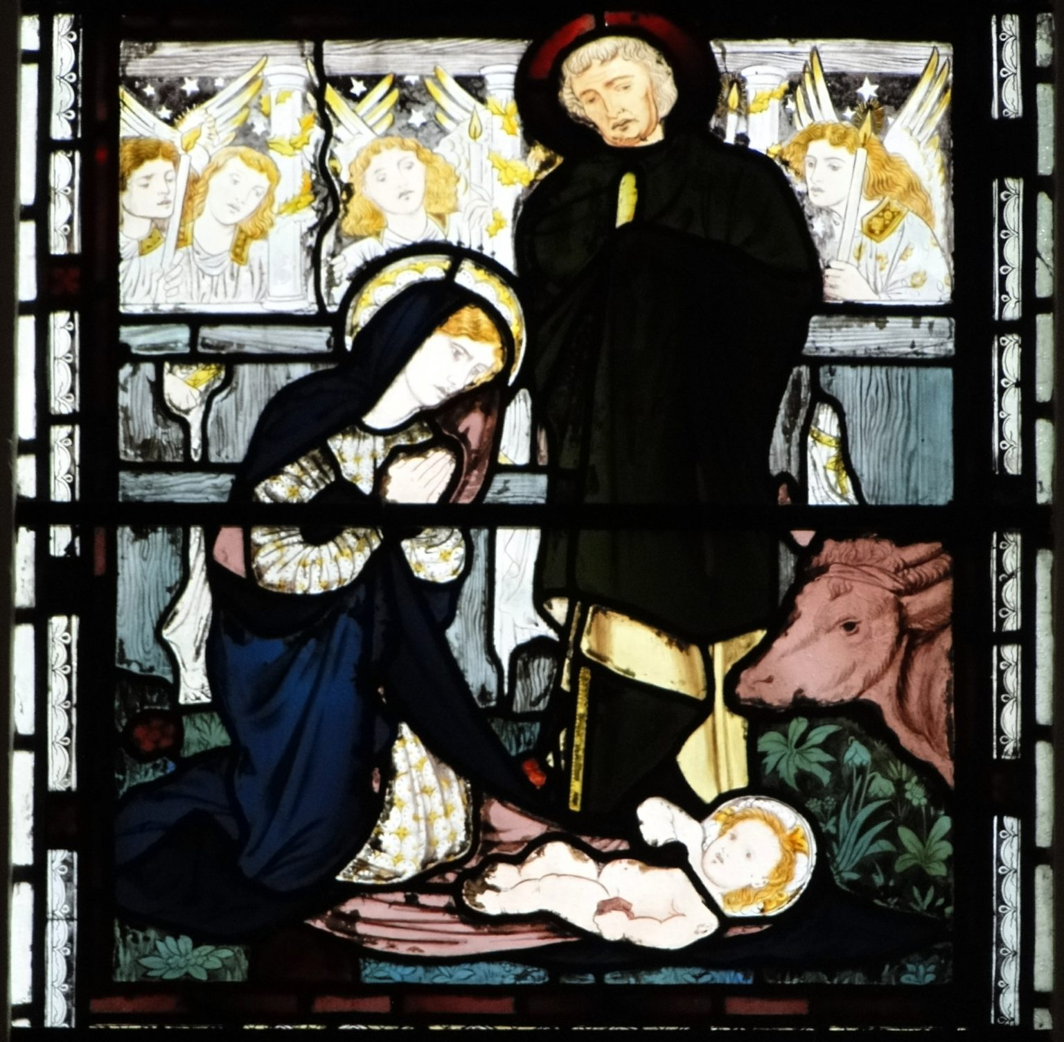Burne-Jones's scene of the Nativity in the East Window of the College Chapel