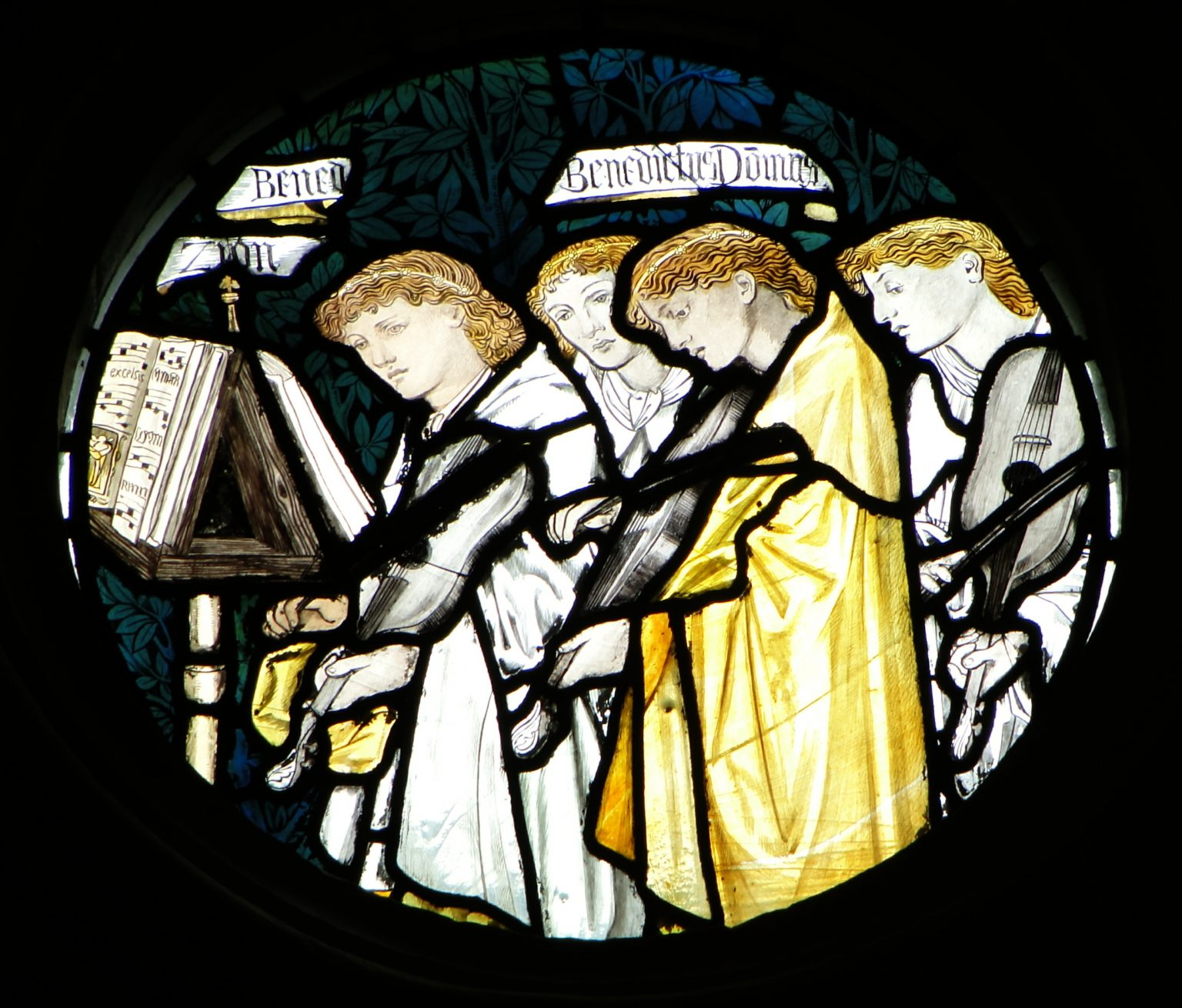 Right circular panel in the East Window of the College Chapel
