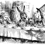 An illustration from 'Alice in Wonderland'
