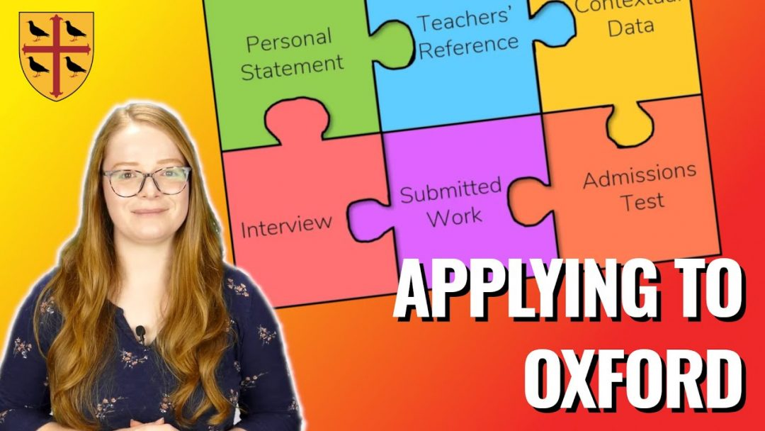 Applying to Oxford new video series from Teddy Hall