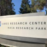 The sign for the NASA Ames Research Center