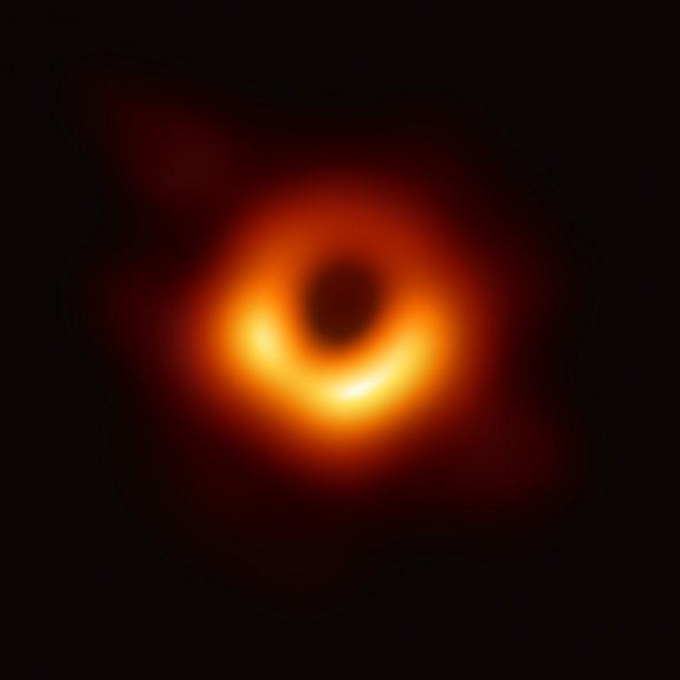 First image of a black hole - taken by the Event Horizon Telescope