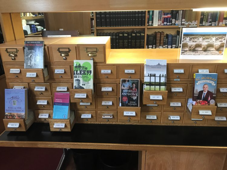 A display of books written by St Edmund Hall alumni