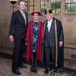 Suzanne & Robert Larson with Chancellor Chris Patten