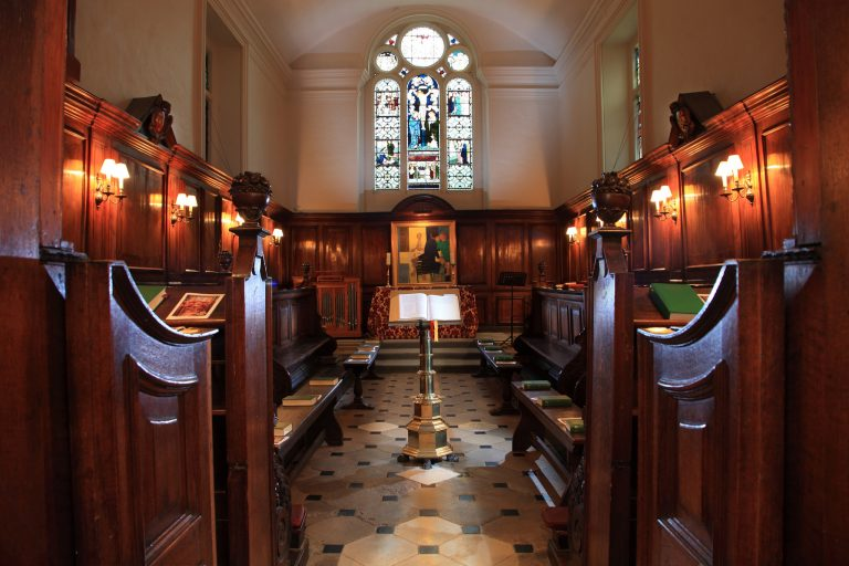 Inside St Edmund Hall's Chapel