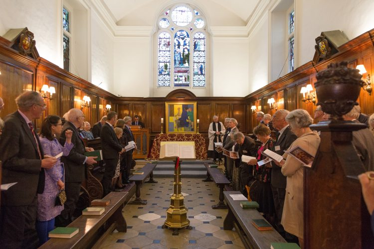 A service in the St Edmund Hall Chapel