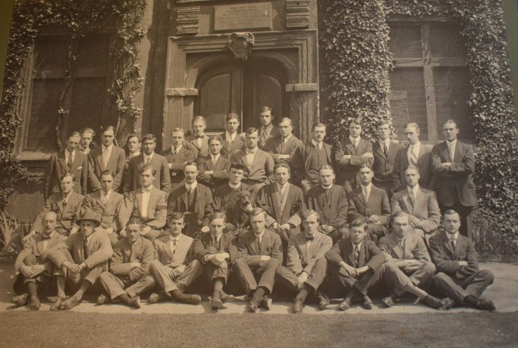 Members of the Common Room at St Edmund Hall in 1914