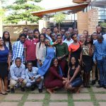 Students on the Ashinaga programme in Uganda