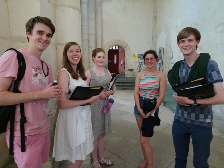 Members of the choir in Pontigny Abbey