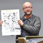 Dan Abnett giving a talk at St Edmund Hall