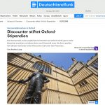 The article on Deutschlandfunk's website about German at Oxford