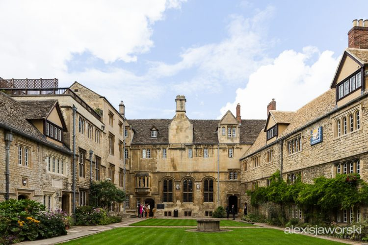 The College's Front Quad, looking towards the Old Dining Hall - photo by Alexis Jaworski