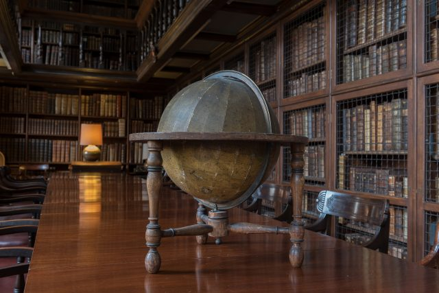 A globe in the Old Library