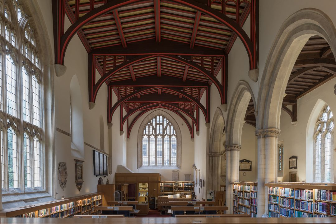 Inside the St Edmund Hall library