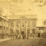 Vice-Principal Liddon with undergraduates in the Front Quad in1862
