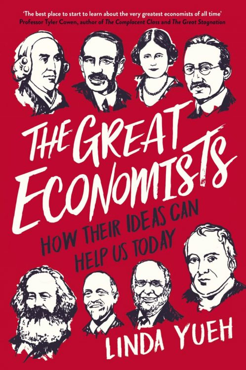 The cover of Linda Yueh's book, 'The Great Economists'