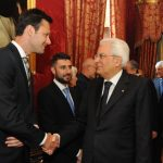 Mauro Pasta with the President of Italy, Sergio Mattarella, during the assembly of the Accademia dei Lincei