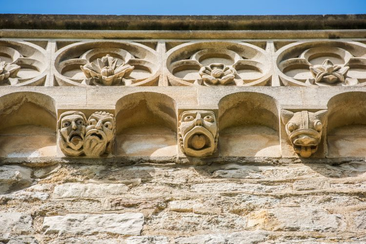 Grotesques on the library tower