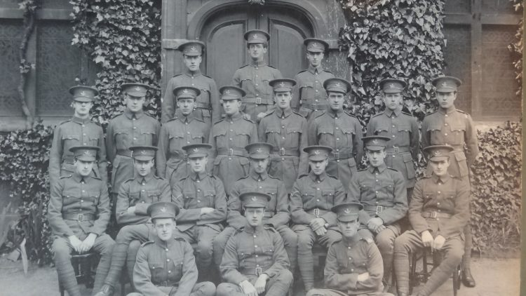 The Officers' Training Corps at St Edmund Hall in 1912