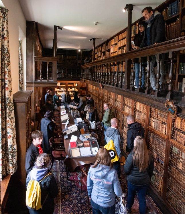 Visitors explore the Old Library at Access Hall Areas