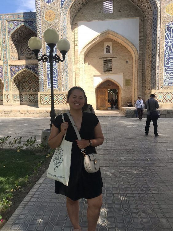 Olga on her summer research trip to Uzbekistan