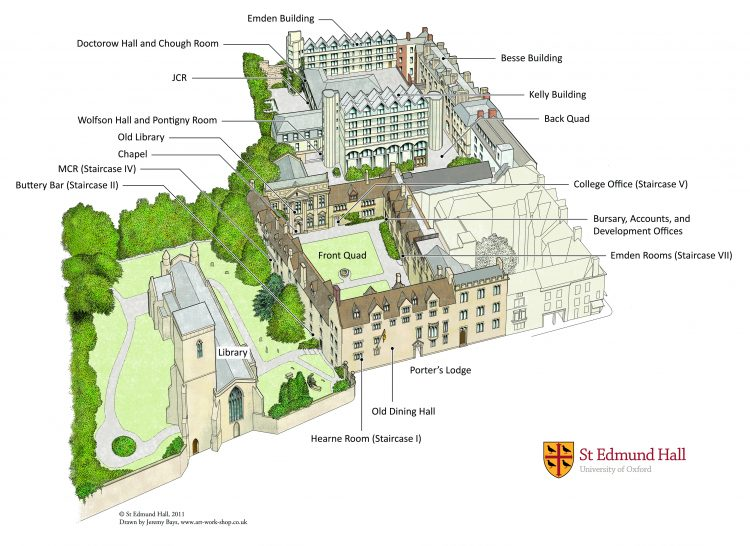 Maps | St Edmund Hall Queens College Campus Map on