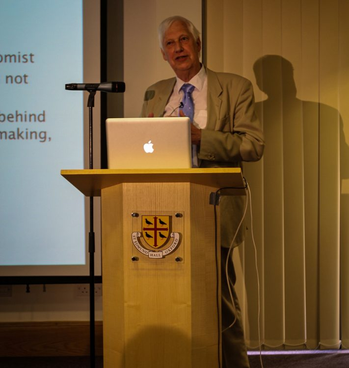 Professor John Knight speaking at an OXCEP Conference