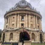 Raven Undersun outside Radcliffe camera in Oxford