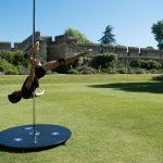 Robin De Meyere demonstrating pole sports