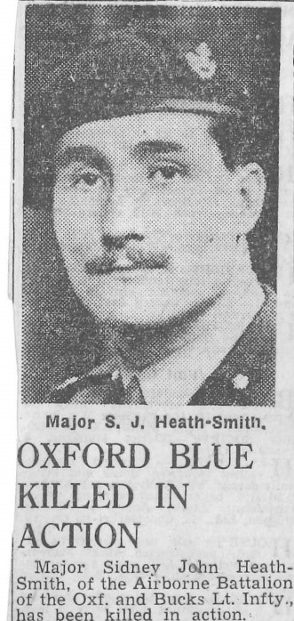 Sidney John Smith Newspaper clipping about his death in action during WW2