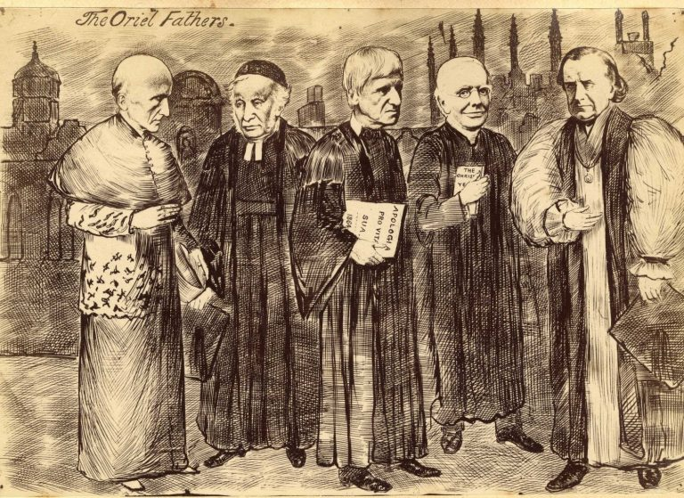 The so-called Oriel Fathers of the Oxford Movement – Manning, Pusey, Newman, Keble and Wilberforce – but Manning was a Christ Church man.