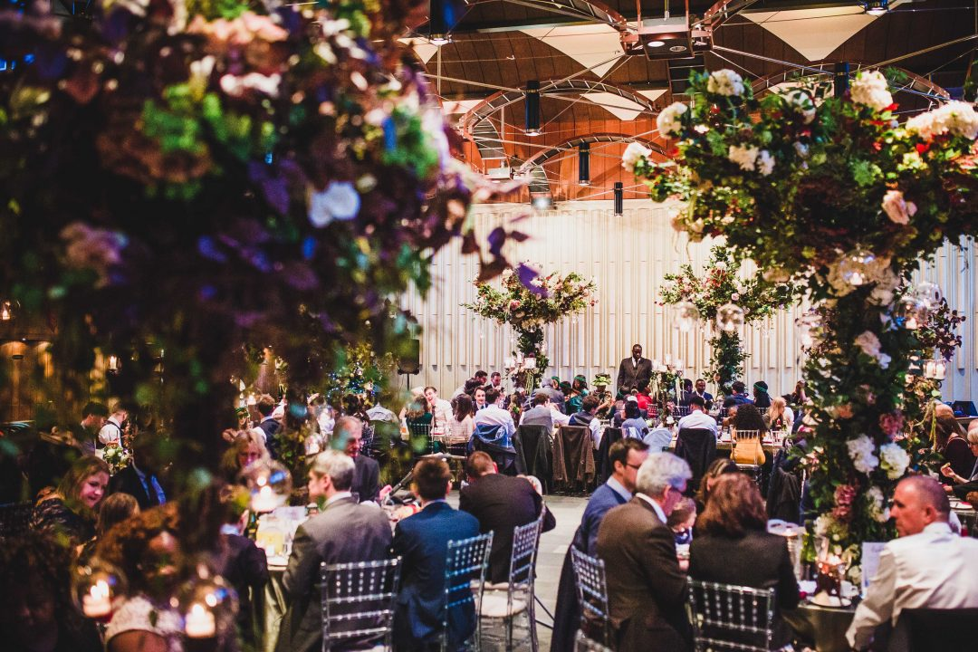 A wedding reception in the Wolfson Hall - photo by Tom Calton