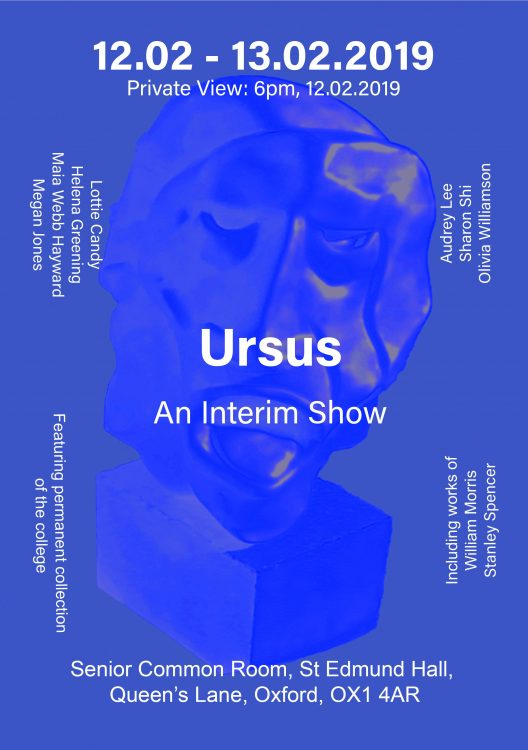 The poster for Ursus, an Interim show by St Edmund Hall Fine Art students