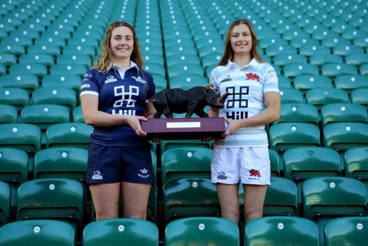 Oxford captain Sophie Behan and Cambridge captain Lara Gibson with The Rhino Trophy – Wired Photos