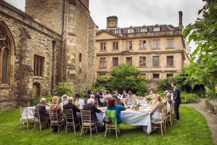 Wedding reception in the Broadbent Garden - photo by John Cairns