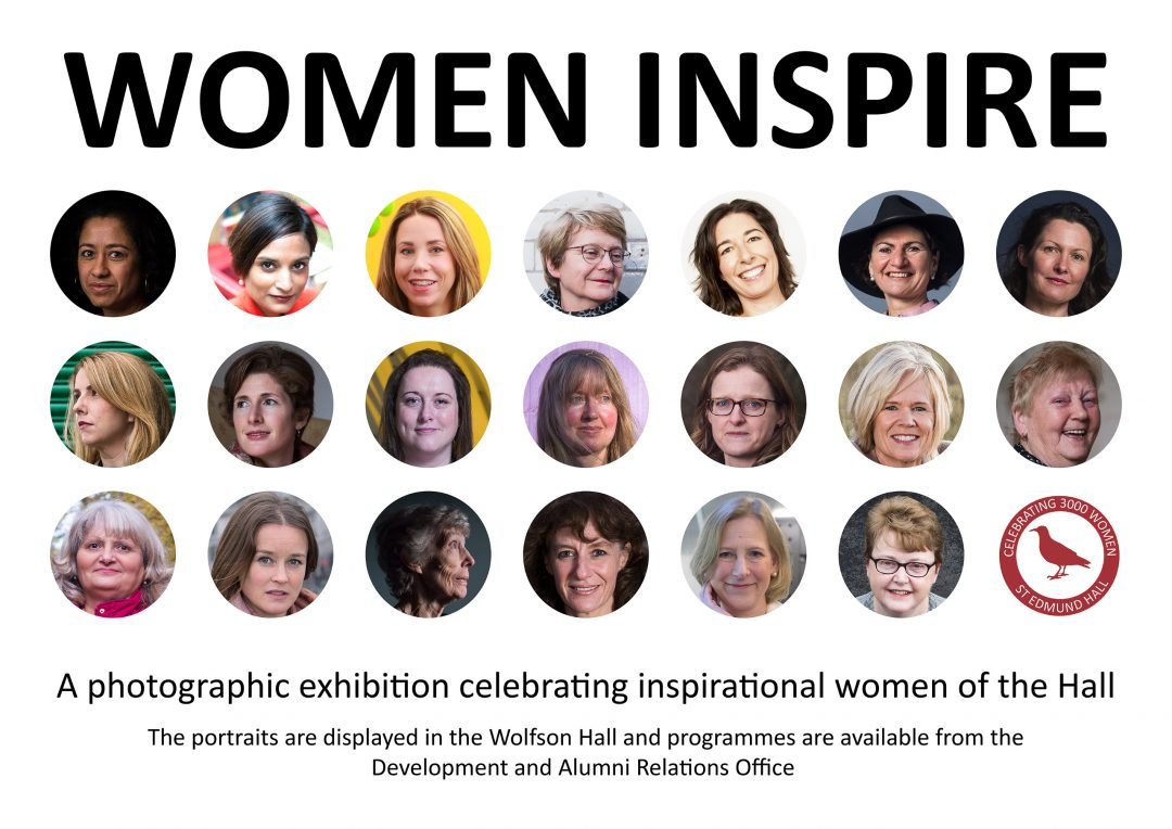 The cover of the 'Women Inspire' exhibition brochure