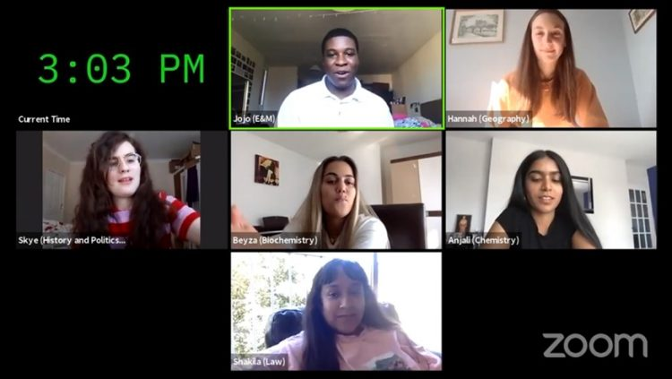 Student Ambassadors questions and answer session on Zoom