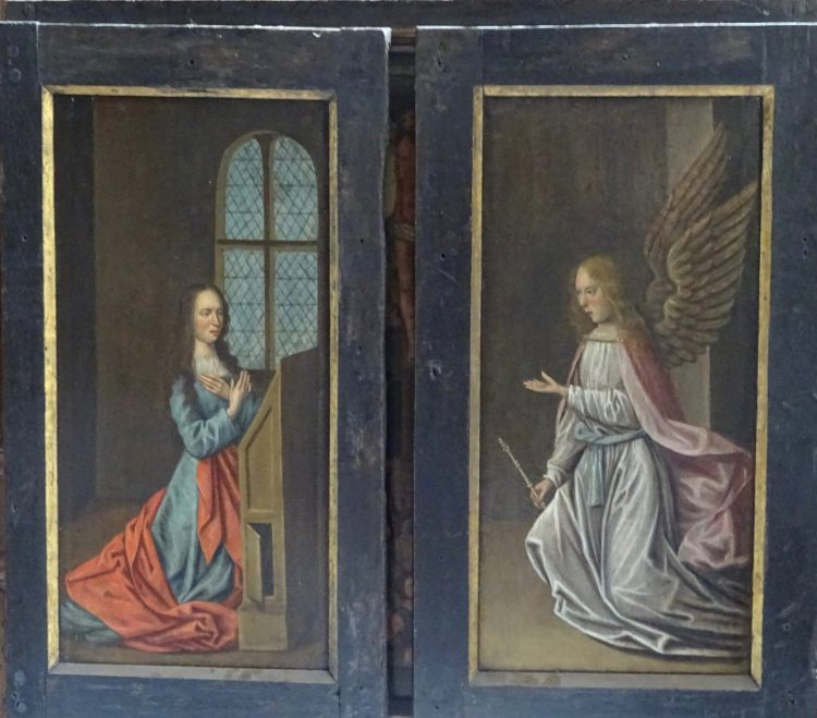 The doors of the Triptych at St Edmund Hall