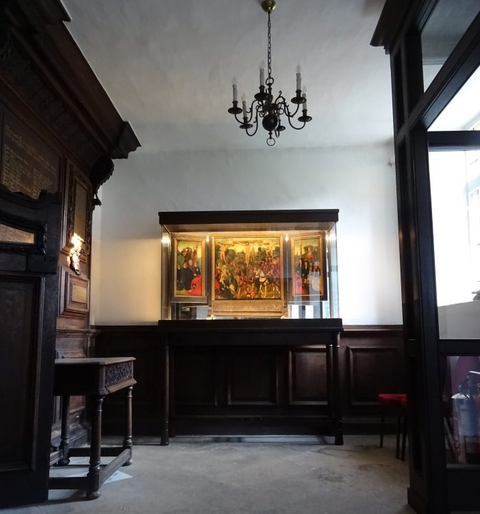 The triptych in the Ante-chapel at St Edmund Hall